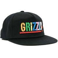 czapka z daszkiem GRIZZLY - Color Block Snapback Blk (BLK)