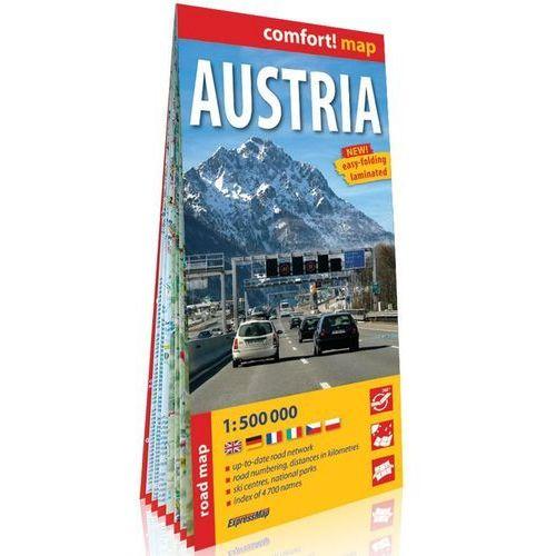 Austria (Austria); laminowana mapa samochodowa 1:500 000 - Praca zbiorowa (2019)