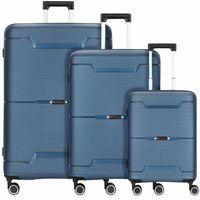 Redolz THE THREE SET 1 Walizka 4 podwójne kółka zestaw 3szt. blue metallic ZAPISZ SIĘ DO NASZEGO NEWSLETTERA, A OTRZYMASZ VOUCHER Z 15% ZNIŻKĄ