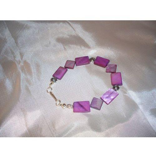 B-00006 Bransoletka na rękę z kostek masy perłowej, 22-03-11