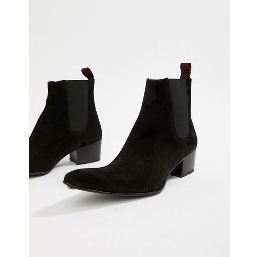 6800f07a5bb99 Zobacz ofertę Jeffery West Sylvian cuban boots in black suede - Black