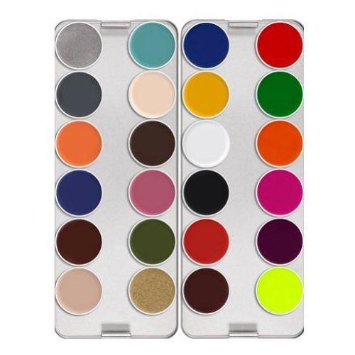 supracolor palette 24 colors (z) paleta 24 kolorów farby o konsystencji kremowej - z (1008) marki Kryolan