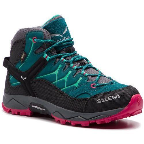 Salewa Trekkingi - alp trainer mid gtx gore-tex 64006-8632 shaded spruce/rose red