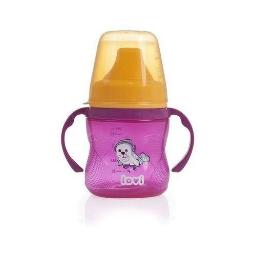 kubek niekapek 150 ml (6m+) hot&cold – różowy marki Lovi