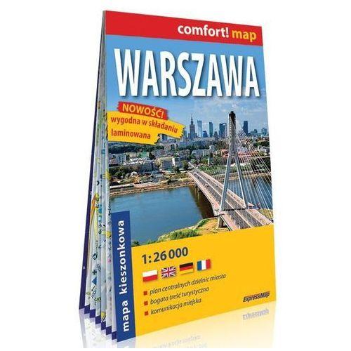 Warszawa kieszonkowy laminowany plan miasta 1:26 000, ExpressMap