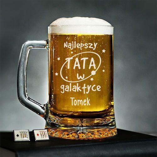 Tata w galaktyce - Personalizowany Kufel - Kufel do piwa