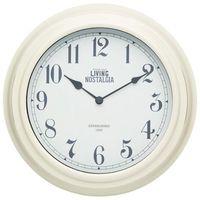 Zegar ścienny Living Nostalgia kremowy (5028250608833)