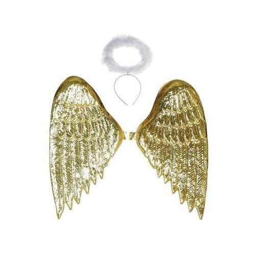 Gu Skrzydła anioła złote z aureolką - 40 x 35 cm - 1 szt.
