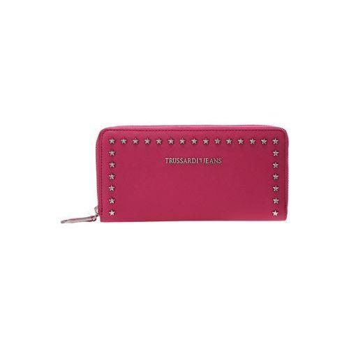 Trussardi Jeans ISCHIA STAR STUDS ZIP AROUND Portfel pink