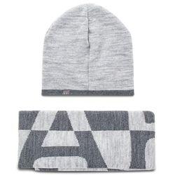 Napapijri Zestaw szalik i czapka - franklin box n0yhxx med grey mel 160