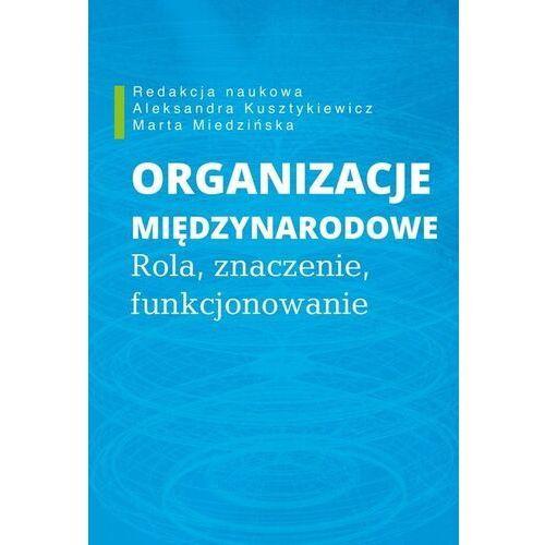 Organizacje międzynarodowe - Aleksandra Kusztykiewicz, Marta Miedzińska (9788375458633)
