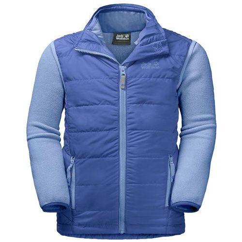Jack wolfskin Zestaw 3w1 kurtka polarowa + kamizelka glen dale kids baja blue - 176 (4055001795529)