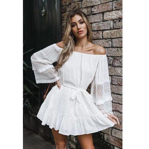 Sukienka DARMENA WHITE, kolor biały