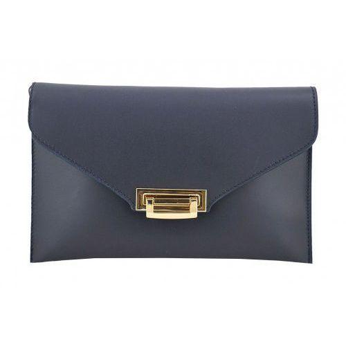 3eed263b81ee9 Barberini s - torebki damskie wizytowe - kopertówki - Granatowy - galeria  produktu