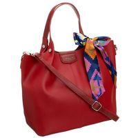 Torebka damska shopper bag czerwona david jones cm5623