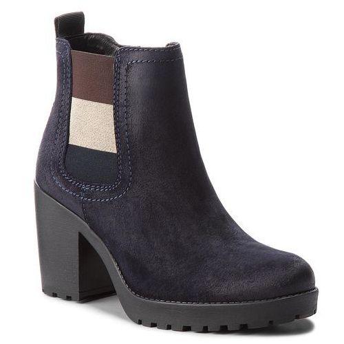 333314f579b05 Tommy jeans Botki - essential mid heel b en0en00332 midnight 403 -  fotografia Tommy jeans Botki