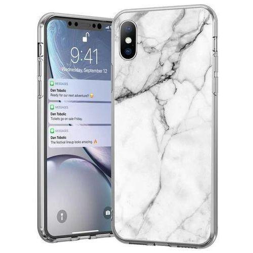 Wozinsky marble żelowe etui pokrowiec marmur xiaomi redmi note 7 biały - biały