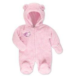 Pink or blue baby pluszowy kombinezon z kapturem kitty kolor róźowy