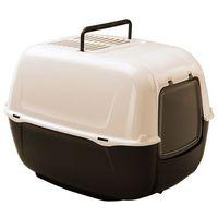 Ferplast Prima New Toaleta dla kota biało-bordowa [72053799EL] (8010690034072)