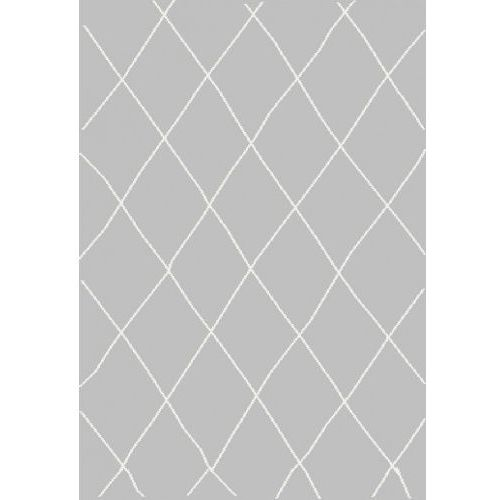 Dywan Shaggy Eco Komfort Mila 160x230 Szary Biały Romby Krata Myretail