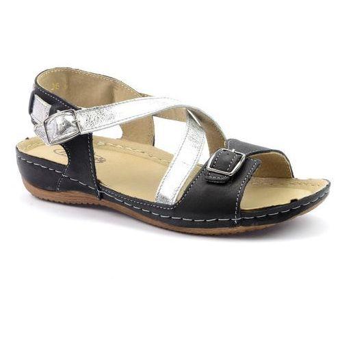 Sandały Helios 215 czarny, kolor czarny