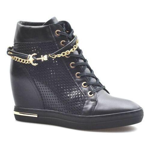 Sneakersy Carinii B5550-E50 Czarne lico, kolor czarny