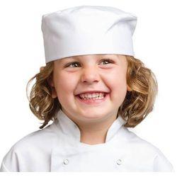 Dziecięca czapka kucharska biała