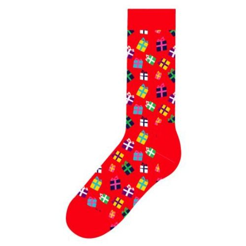 Skarpetki Happy Socks Holiday Singles Gift GIF01 4000 Prezenty  Czerwony