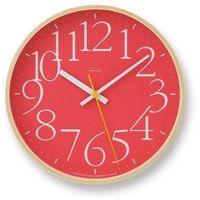Lemnos Zegar ścienny ay clock czerwony