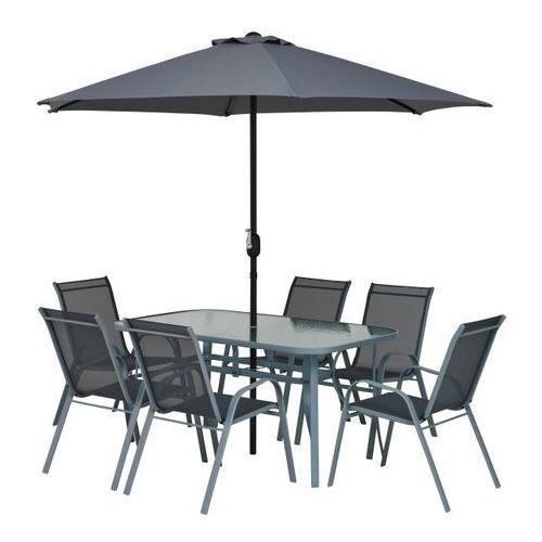 Gotowy zestaw mebli tarasowych Jumi Fiesta z parasolem (5900410397071)