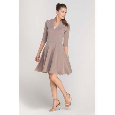 377a41d847 Czarna dzianinowa sukienka z kominem i kontrafałdą na plecach marki Lanti  MOLLY · 149