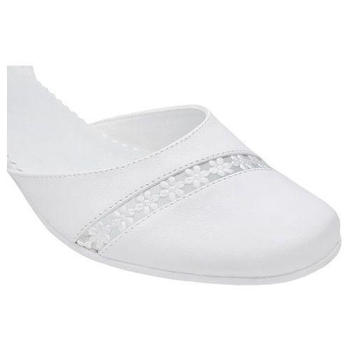 024d858b8d Pantofelki buty komunijne dla dziewczynki 45 białe - biały marki Kmk - 5