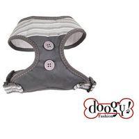 Doogy klasyczne i wygodne szelki dla psa, w paseczki beżowo-szare, DOG-N5004