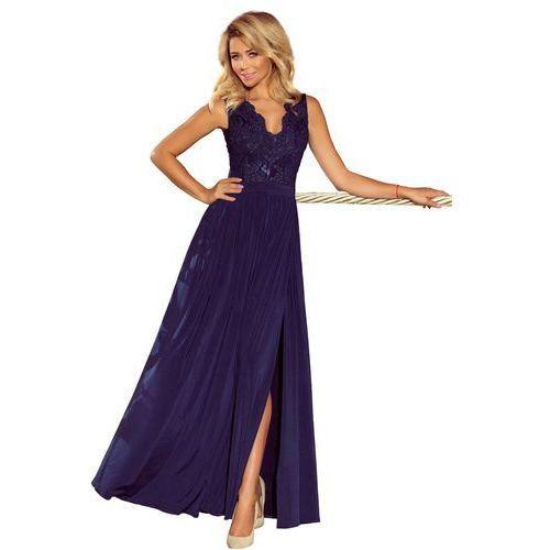 06e39b4eec 216-3 EMMA elegancka ołówkowa sukienka z koronką - BORDOWA L