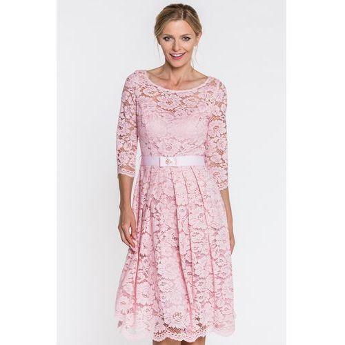 aa6c27dc89 Różowa sukienka z koronki - GaPa Fashion