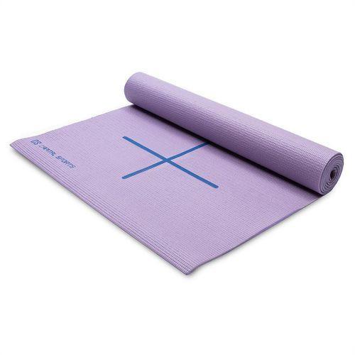 Capital sports mata do jogi mata gimnastyczna 173 x 60cm lila torba na ramię