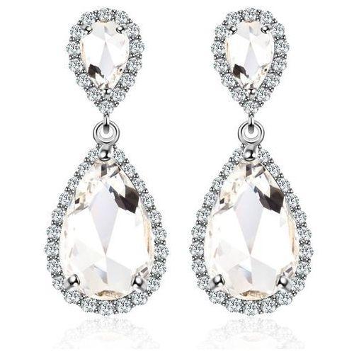 Kol 599/567 kolczyki ślubne z łezką, piękne Mak-biżuteria