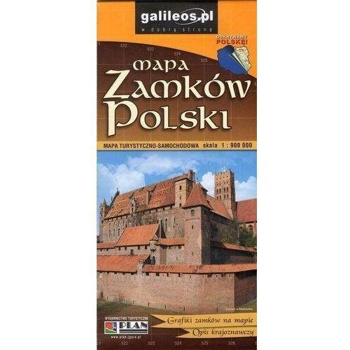 Mapa Zamków Polski 1:900 000 - Praca zbiorowa (2018)