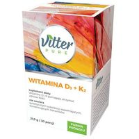 VITTER PURE Witamina D3+K2 21,9g/30 porcji