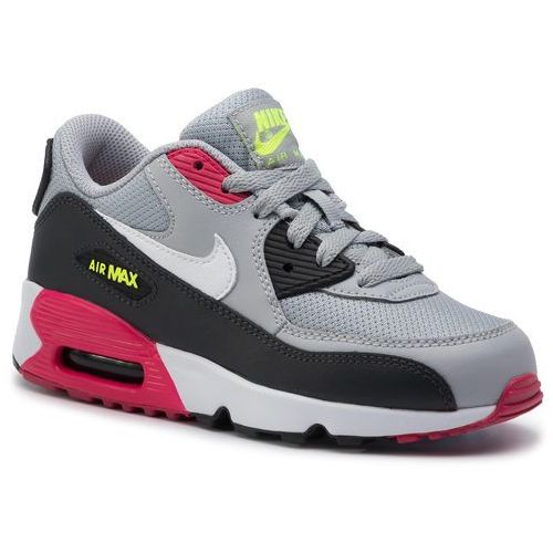Buty NIKE - Air Max 90 Mesh (Ps) 833420 027 Wolf Grey/White/Rush Pink/Volt, kolor szary