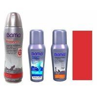 Zestaw do pielęgnacji zamszu i nubuku czyszczenie i farbowanie bama czerwony