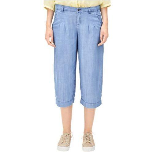3/4 spodnie damskie 34 niebieski S.oliver