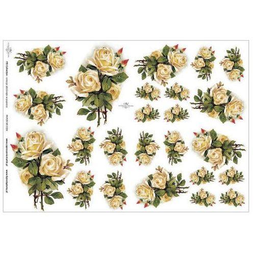 Papier do decoupage A3 ITD 336 róże herbaciane x1