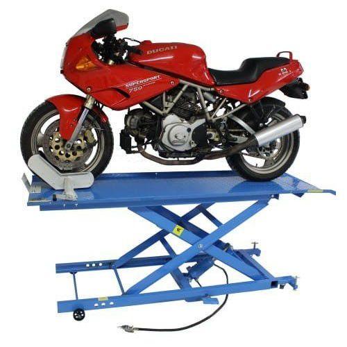 Podnośnik motocyklowy krzyżakowy hydrauliczno - pneumatyczny 450 kg marki Mammuth