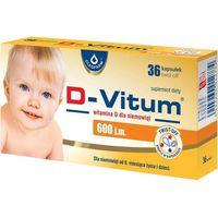 Kapsułki D-Vitum witamina D dla niemowląt 600 j.m. x 36 kapsułek twist-off