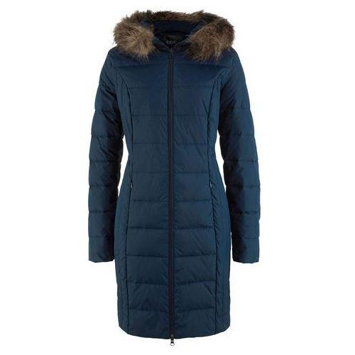 Bonprix Lekki płaszcz puchowy pikowany ciemnoniebieski