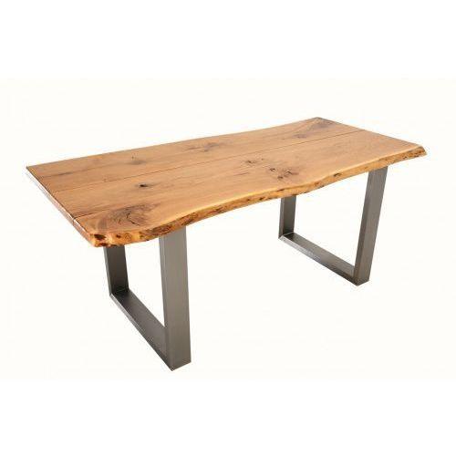 Konar meble kolbudy Stół - stal nierdzewna i dębowy blat