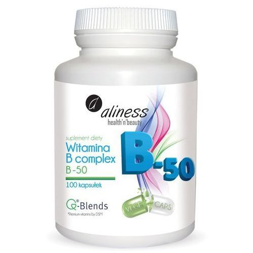 Witamina B complex B-50 – B6, B12, kwas foliowy - 100 kapsułek – Aliness