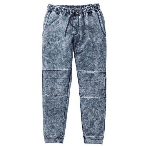 Spodnie dresowe Slim Fit bonprix szary, bawełna