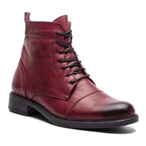 1819fffd0723f Kozaki LANQIER - 43A634 Bordowy, kolor czerwony - emodi.pl moda i styl